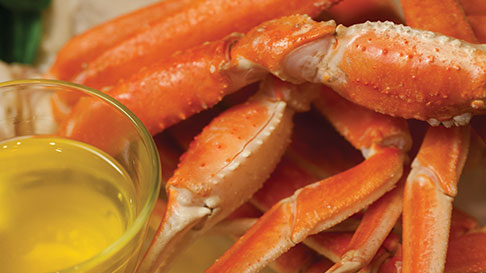 crab legs with side of butter