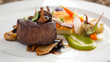 picture of steakhouse with wild mushrooms